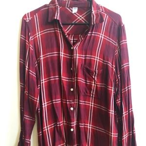 Three Old Navy Blouses and Flannel